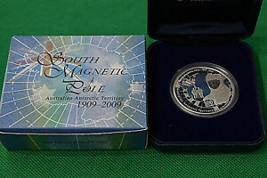 Click now to see the BUY IT NOW Price! 2009 PERTH 1 OZ. SOUTH MAGNETIC POLE .999 FINE SILVER COIN W/COA & DISPLAY BOX