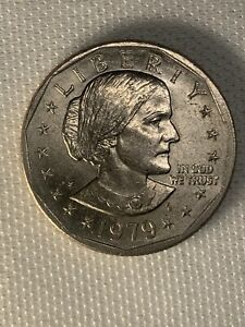 1979 SUSAN B ANTHONY DOLLAR COIN BLOB  ERROR   AND RIM ERROR