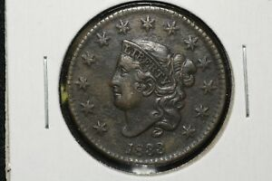 Click now to see the BUY IT NOW Price! 1833 CORONET HEAD LARGE CENT XF DETAIL