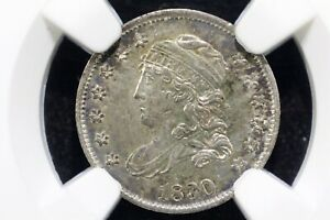 Click now to see the BUY IT NOW Price! 1830 CAPPED BUST HALF DIME LM 13 NICE LUSTROUS SLIDER NGC AU 58