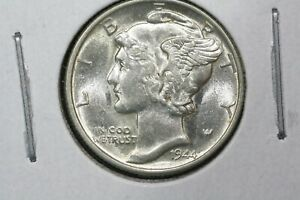 Click now to see the BUY IT NOW Price! 1944  MERCURY DIME SLIDER BU