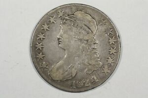 Click now to see the BUY IT NOW Price! 1824/1 CAPPED BUST HALF DOLLAR O 110 R2 FINE