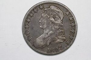Click now to see the BUY IT NOW Price! 1827 CAPPED BUST HALF DOLLAR SQUARE BASE 2 O 119 R3 CHOICE FINE