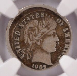 Click now to see the BUY IT NOW Price! NGC 10C 1907 D BARBER DIME STRUCK 10  OFF CENTER VF20