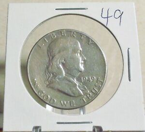 1949  SILVER FRANKLIN HALF DOLLAR..