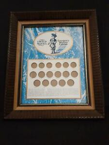 UNITED STATES EMERGENCY WARTIME COINAGE COLLECTION FRAMED 8 X 10  W/GLASS
