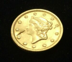 1852 $1 US GOLD COIN