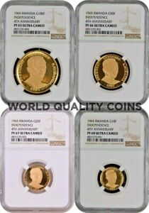 Click now to see the BUY IT NOW Price! RWANDA 1965 GOLD SET 4 COINS INDEPENDENCE 4TH ANNIVERSARY KAYIBANDA NGC BOX COA