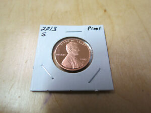 2013 S PROOF LINCOLN SHIELD CENT