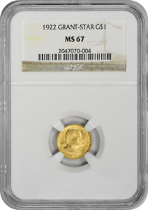 Click now to see the BUY IT NOW Price! 1922 GRANT WITH STAR $1 GOLD MS67 NGC