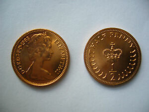 1983 DECIMAL HALF PENCE COINS  NEW   UNCIRCULATED