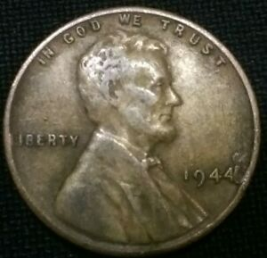1944 LINCOLN CENT WITH CUD ERROR NEXT TO DATE