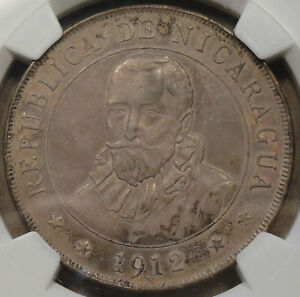 Click now to see the BUY IT NOW Price! NICARAGUA 1912 H CORDOBA NGC CERTIFIED AU55