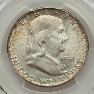 Click now to see the BUY IT NOW Price! 1951 D 50C FRANKLIN MS66 FULL BELL LINES   PCGS   CAC   TOP POP GEM NONE BETTER