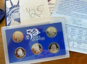 1999 S STATES 25C 5 COIN PROOF SET   W/COA     CHOICE GEMS   AWESOME    Y25