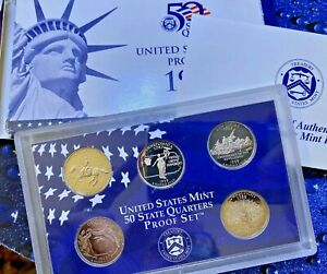 1999 S STATES 25C 5 COIN PROOF SET   W/COA     TONED   Y26
