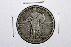 Click now to see the BUY IT NOW Price! 1917 TYPE I STANDING LIBERTY QUARTER VF