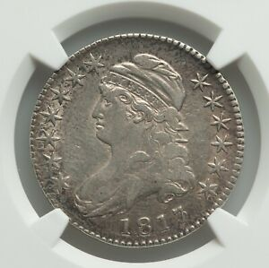 Click now to see the BUY IT NOW Price! 1817/3 CAPPED BUST HALF DOLLAR O 101A LUSTROUS NGC VF 35