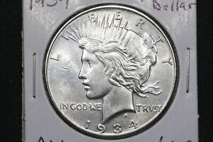 Click now to see the BUY IT NOW Price! 1934 PEACE DOLLAR ALMOST UNCIRCULATED KEY DATE