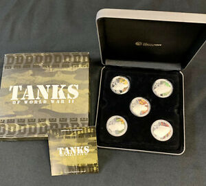 Click now to see the BUY IT NOW Price! 2010 PERTH MINT 1OZ SILVER PROOF 5 COIN SET   TANKS OF WORLD WAR II