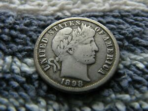 1898 O BARBER DIME WITH DOUBLED MINTMARK