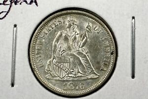 Click now to see the BUY IT NOW Price! 1876 LIBERTY SEATED DIME SLIDER BU