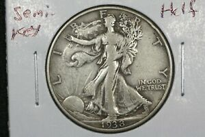 Click now to see the BUY IT NOW Price! 1938 D WALKING LIBERTY HALF DOLLAR SEMI KEY CHOICE FINE
