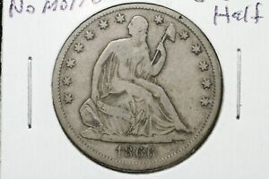 Click now to see the BUY IT NOW Price! 1866 S SEATED LIBERTY HALF DOLLAR NO MOTTO  DATE  FINE