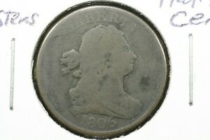 Click now to see the BUY IT NOW Price! 1806 LG 6 W/STEMS DRAPED BUST HALF CENT GOOD
