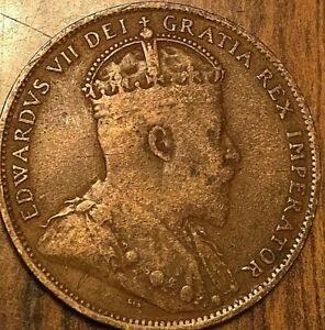 1909 NEWFOUNDLAND LARGE CENT COIN LARGE 1 CENT PENNY