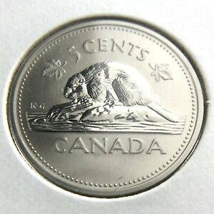 2002 P CANADA 5 CENTS NICKEL SPECIMEN UNCIRCULATED CANADIAN COIN N375