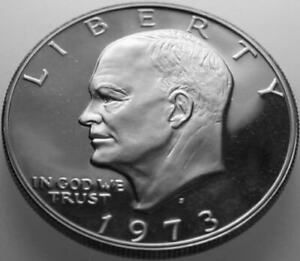 1973 S EISENHOWER DOLLAR COPPER/NICKEL CLAD PROOF NICE NO PROBLEM COIN