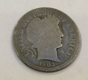 1903 BARBER DIME US COIN $3.00 SHIPPING