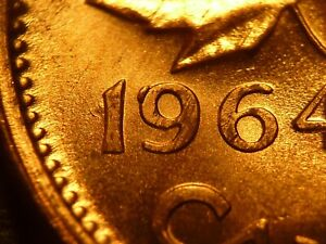 1964 CENT ZOELL P88X FILLING ON 9 BRILLIANT UNCIRCULATED  FROM MINT BAG