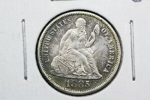 Click now to see the BUY IT NOW Price! 1885 LIBERTY SEATED DIME LIVELY ALMOST UNCIRCULATED