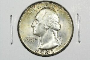 Click now to see the BUY IT NOW Price! 1941 D WASHINGTON QUARTER CHOICE TONED UNCIRCULATED