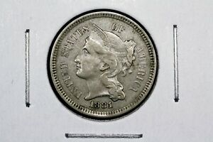 Click now to see the BUY IT NOW Price! 1881 THREE CENT NICKEL XF