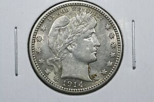 Click now to see the BUY IT NOW Price! 1914 BARBER QUARTER AU