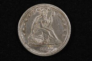 Click now to see the BUY IT NOW Price! 1861 25C LIBERTY SEATED QUARTER CHOICE AU