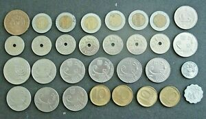 FOREIGN COIN LOT   USED   ISRAELI NORWEGIAN CHILE & OTHER