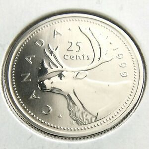 1999 SPECIMEN CANADA 25 CENTS QUARTER UNCIRCULATED CANADIAN COIN N691
