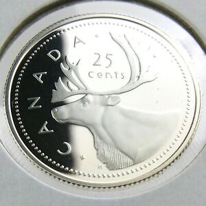 2002 PROOF CANADA 25 CENTS QUARTER UNCIRCULATED CANADIAN ELIZABETH II COIN N692