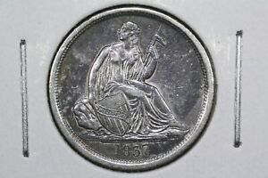 1837 NO STARS LIBERTY SEATED DIME XF  /AU