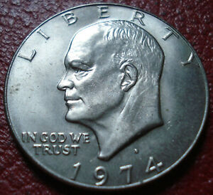 1974 D IKE DOLLAR IN UNCIRCULATED CONDITION