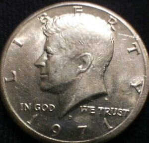 1971 D DENVER MINT DDO 004. FS 101 CLAD KENNEDY HALF OFF CENTER ERROR
