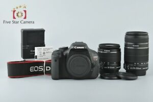 CANON EOS KISS X5 / REBEL T3I / 600D 18.0MP DSLR 18 55 55 250 LENS KIT