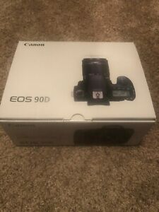 CANON EOS 90D 32.5MP DSLR CAMERA   BLACK  BODY ONLY  NEW IN BOX
