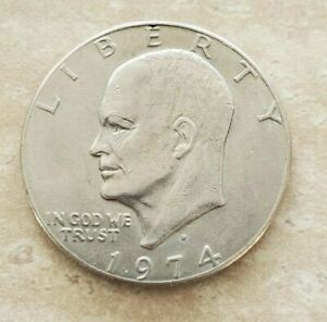 1974 EISENHOWER ONE DOLLAR COIN COLLECTIBLE ANTIQUE CURRENCY