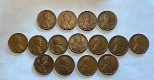 LOT OF 15 WHEAT PENNIES 1940 1946  WILL COMBINE SHIPPING