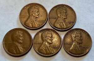 LOT OF 5 WHEAT PENNIES 1930 1937  WILL COMBINE SHIPPING